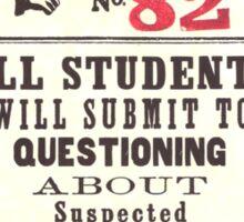 Umbridge Proclomation number 82 Sticker