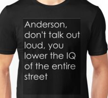 Anderson in Black Unisex T-Shirt