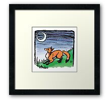 Fox and the Moon Framed Print