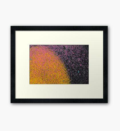 Graffiti Black & Yellow Framed Print