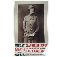 Evangeline Booth on The secret of the Salvation Armys success at City Auditorium Poster