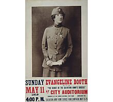 Evangeline Booth on The secret of the Salvation Armys success at City Auditorium Photographic Print