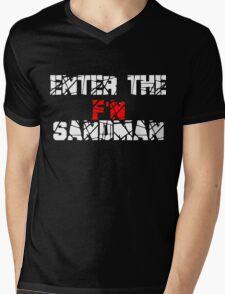 Enter the F'N Sandman Mens V-Neck T-Shirt