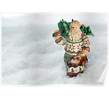 Father Christmas Old Fashioned in Snow Poster