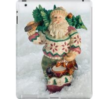Father Christmas Old Fashioned in Snow iPad Case/Skin