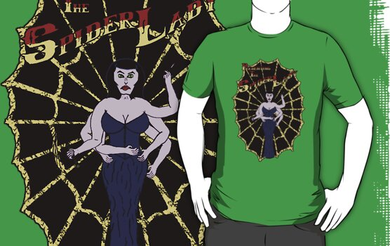 Spider Lady's Web (Stickers and Light Shirts) by Barton Keyes