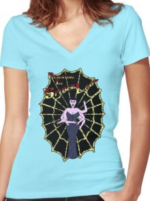 Spider Lady's Web (Stickers and Light Shirts) Women's Fitted V-Neck T-Shirt