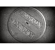 Boston Drain Photographic Print