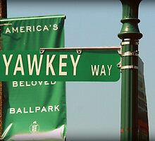 Yawkey Way Street Sign, Fenway Park by Amanda Vontobel Photography