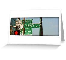 Yawkey Way Street Sign, Fenway Park Greeting Card