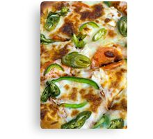 Pizza Topping Close Up Canvas Print
