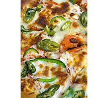 Pizza Topping Close Up Photographic Print