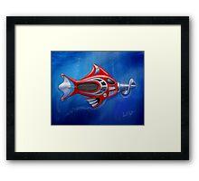 Screwy Fish Framed Print