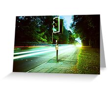 Speed Trails  Greeting Card