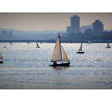 Sail Boats, Charles River, Boston by Amanda Vontobel Photography