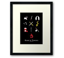 Game of Thrones Season One Framed Print