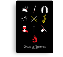 Game of Thrones Season One Canvas Print