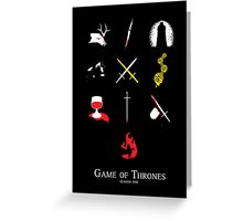 Game of Thrones Season One Greeting Card