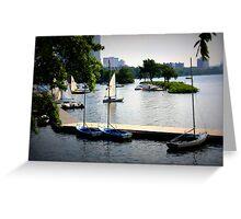 Charles River, Harbor, Boston Greeting Card