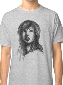 Beautiful Woman Artist Pencil Sketch 2 Classic T-Shirt