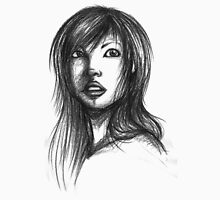 Beautiful Woman Artist Pencil Sketch 2 T-Shirt