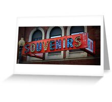 Souvenirs Old Timey Signage  Greeting Card