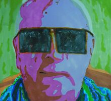 Friend wearing shades by George Hunter