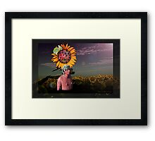The gravity of the situation Framed Print