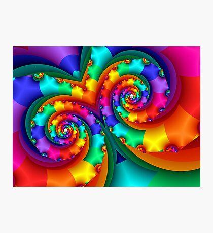Rainbow Mask Photographic Print