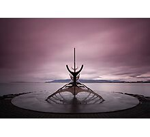 Iceland: Sun Voyager Photographic Print