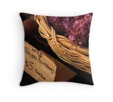 Wild Onions Throw Pillow
