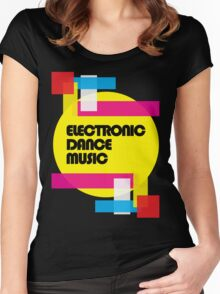 Electronic Dance Music (colorship) Women's Fitted Scoop T-Shirt