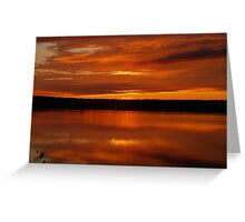 Sunset on the Mersey Greeting Card