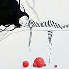 """Clown Girl & her Red Bubbles Balls """"Sleepy Head""""  by minoule"""