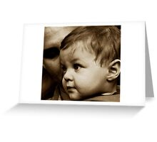 A Father - A Son Greeting Card