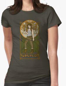 Survivor. Womens Fitted T-Shirt