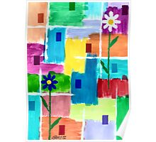 FLOWERS ON ABSTRACT Poster