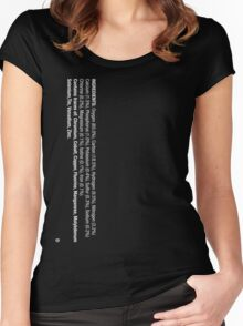 ingredients: (white version) LARGE PRINT Women's Fitted Scoop T-Shirt