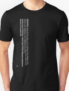 ingredients: (white version) LARGE PRINT T-Shirt