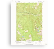 USGS Topo Map Washington State WA Scenic 243592 1965 24000 Canvas Print