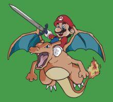 Mario x Charizard Kids Clothes