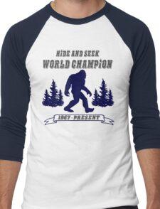 Hide and Seek World Champion Bigfoot Men's Baseball ¾ T-Shirt