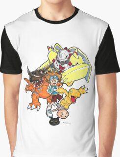 Digimon Agumon Evolution  Graphic T-Shirt