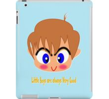 Little Boys are always Very Good T-shirt, etc. design iPad Case/Skin