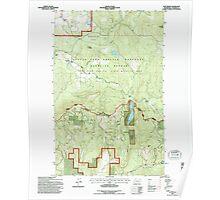 USGS Topo Map Washington State WA Cliff Ridge 240570 1992 24000 Poster