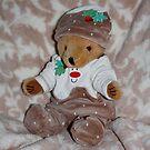 Christmas Pudding Teddy by AnnDixon