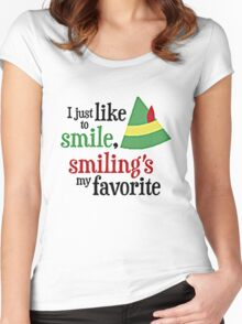 I JUST LIKE TO SMILE Women's Fitted Scoop T-Shirt