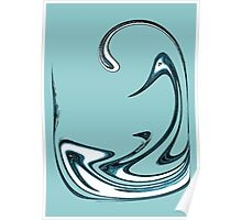 Blue Swans Poster