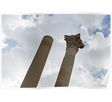 The Old and the New - Columns at the Open Air Theatre, Valletta, Malta Poster