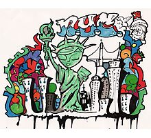 graffiti statue of liberty Photographic Print